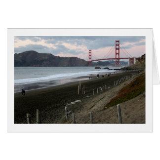 Puente Golden Gate, tarjeta de la puesta del sol