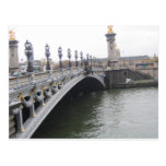 Puente hermoso en París, Francia Postales
