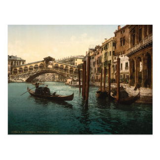 Puente I Venecia Italia de Rialto Tarjeta Postal