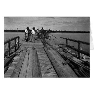 Puente, Marco Island, la Florida, 1935 Tarjeta De Felicitación