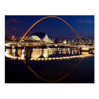 Puente Newcastle del milenio Postal