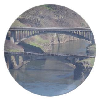 puente plato de cena