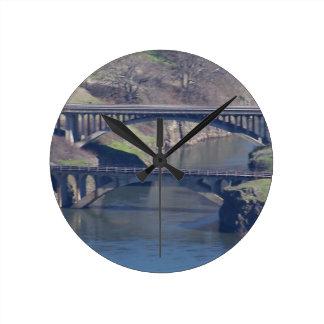 puente reloj redondo mediano