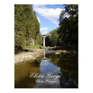 Puente sobre la garganta de Elora Postal