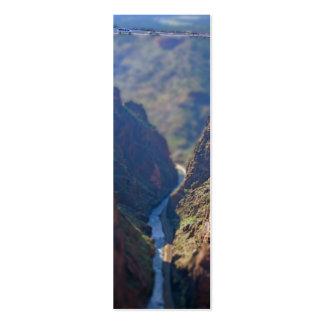 Puente sobre las señales reales de la garganta tarjetas de visita mini