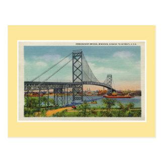 Puente Windsor Canadá del embajador de Detroit del Postal
