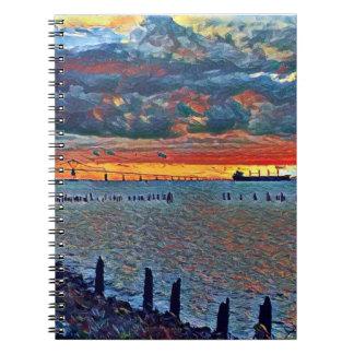 Puente y cuaderno del mar