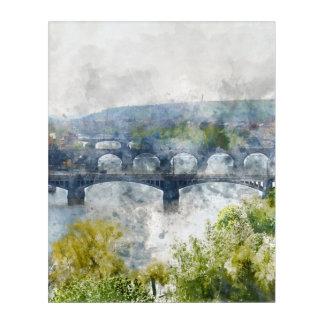 Puentes en la República Checa de Praga Impresión Acrílica