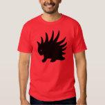 Puerco-espín Liberal Libertario de color negro. Camiseta