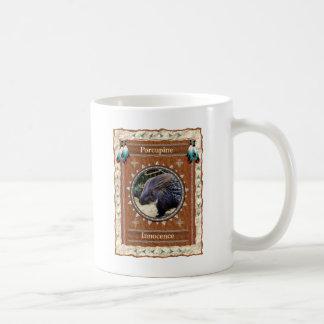 Puerco espín - taza de café clásica de la