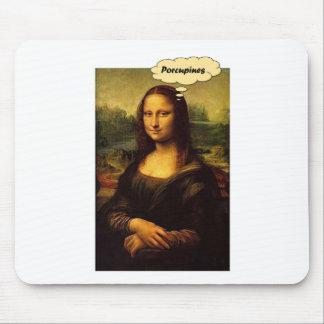Puercos espines de Mona Lisa Alfombrilla De Ratón
