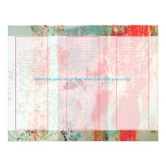 Puerta abstracta/aherrumbrada de folleto 21,6 x 28 cm