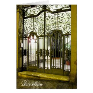 puerta Barcelona de g/nc Barcelona L'Eixample Tarjeta De Felicitación