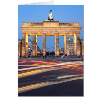 Puerta de Brandeburgo en Berlín Tarjeta