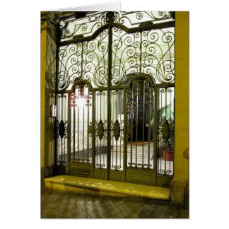 puerta de g/nc Barcelona L'Eixample Tarjeta De Felicitación