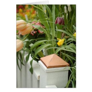 Puerta de la tarjeta de las flores