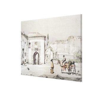 Puerta de la vid (Puerta del Vino), de 'bosquejos Impresión En Lienzo