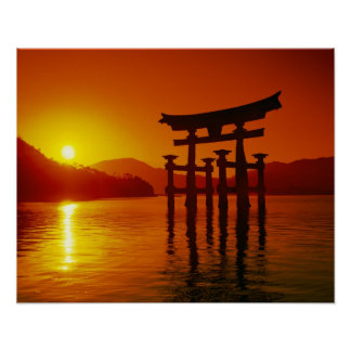 Puerta de O-Torii, capilla de Itsukushima, Miyajim Impresiones