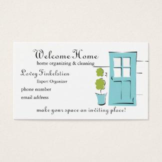 Puerta del azul del huevo del petirrojo bonito tarjeta de negocios