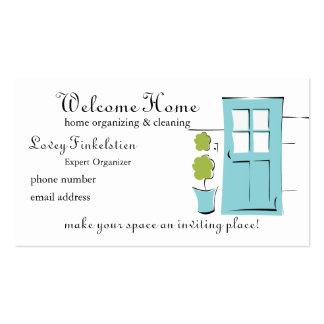 Puerta del azul del huevo del petirrojo bonito plantillas de tarjetas personales