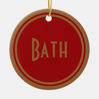 Puerta del baño del art déco adorno redondo de cerámica