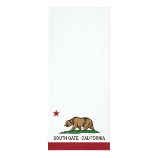 Puerta del sur de la bandera del estado de invitación 10,1 x 23,5 cm