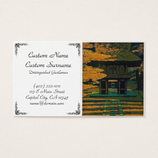 Puerta japonesa oriental fresca de la capilla del tarjeta de negocios