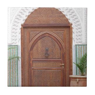 Puerta marroquí azulejo cuadrado pequeño