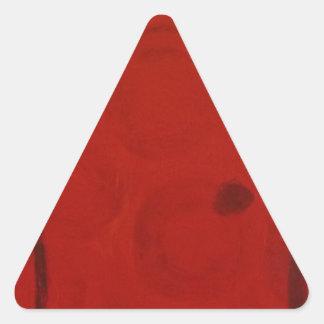 Puerta roja de S.B. Eazle Pegatina Triangular