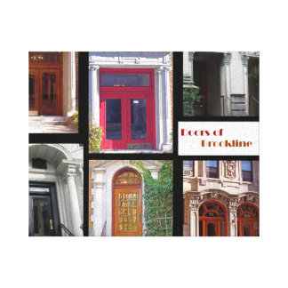 Puertas de la impresión de la lona de Brookline Lienzo Envuelto Para Galerías