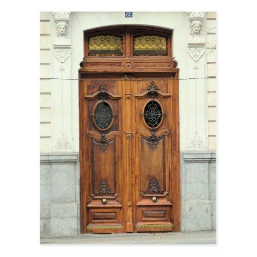 Puertas de Madrid, España - postal