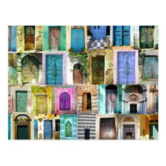 Puertas y Windows de alrededor del mundo Postal