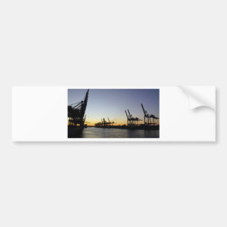 puerto de Hamburgo Pegatina Para Coche