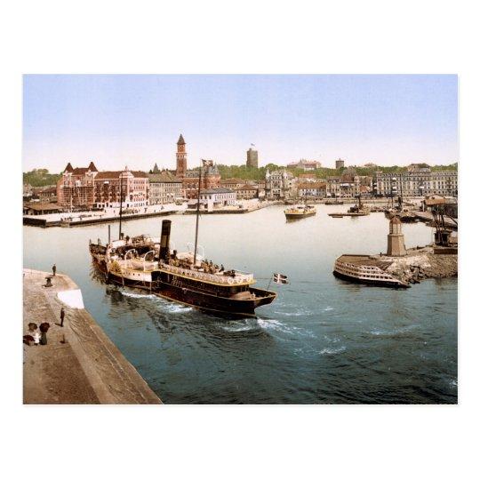 Puerto de Helsingborg y ayuntamiento Suecia Postal