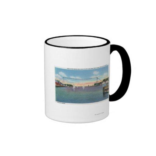 Puerto de Rochester y milicia naval de NY Tazas De Café