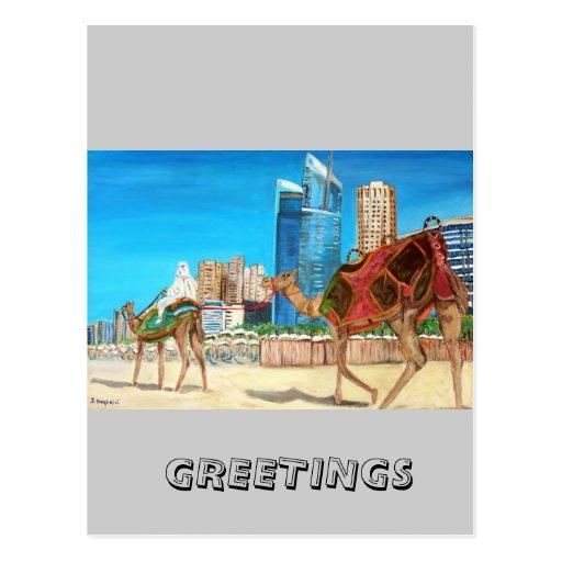 Puerto deportivo de Dubai Tarjetas Postales
