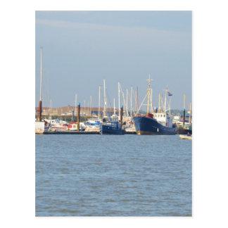 Puerto deportivo de Essex Tarjeta Postal