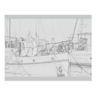 Puerto deportivo de Gibraltar Postal