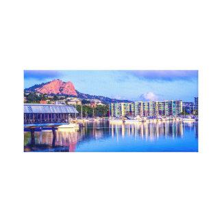 Puerto deportivo de Townsville, arte del horizonte