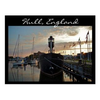 Puerto deportivo del casco, puesta del sol [postal postal
