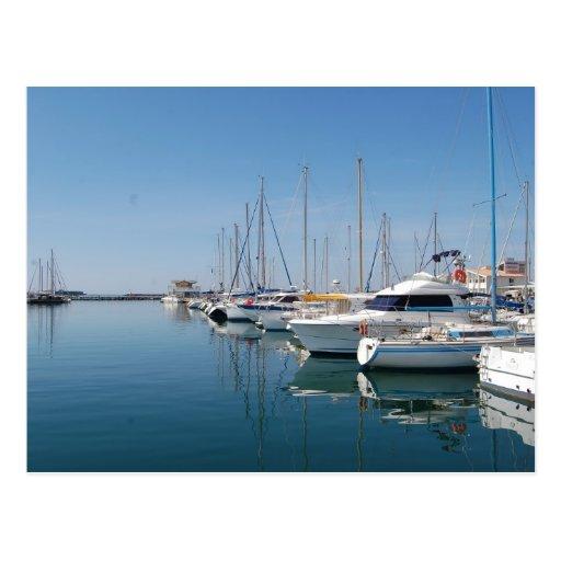 Puerto deportivo del d'Agde del casquillo Tarjetas Postales