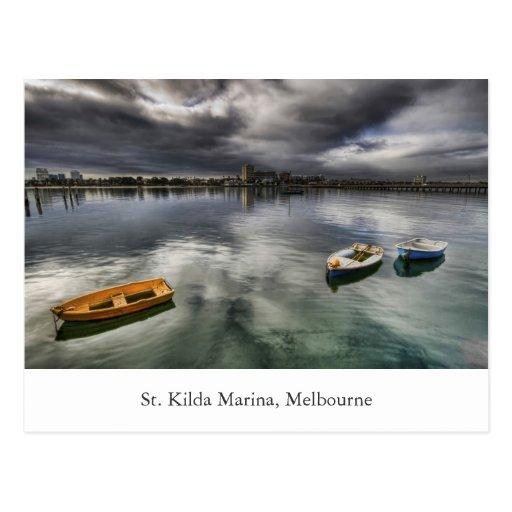 Puerto deportivo del St. Kilda Tarjeta Postal