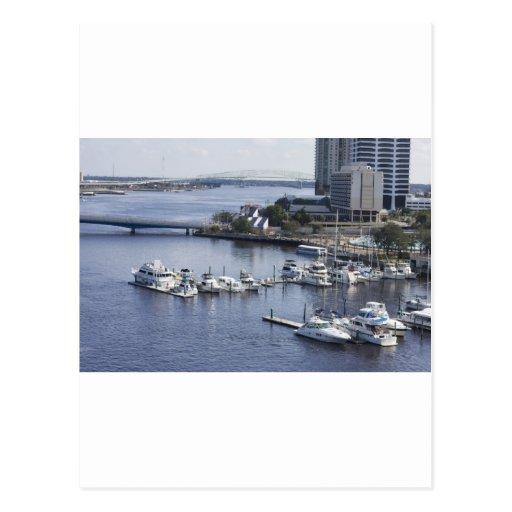 puerto deportivo del sur de Jacksonville del banco Tarjetas Postales