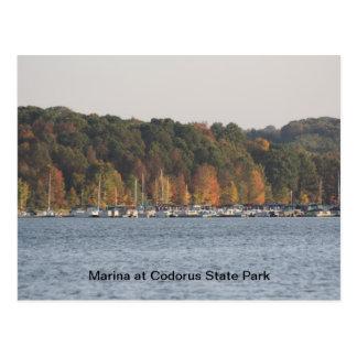 Puerto deportivo en el parque de estado de Codorus Postal
