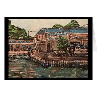 Puerto deportivo en Portside, tarjeta de