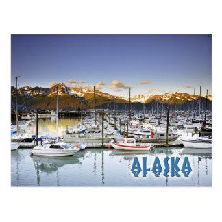 Puerto deportivo en Seward, Alaska Tarjetas Postales