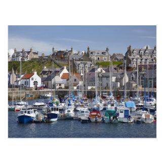 Puerto deportivo, Findochty, Moray, Escocia, unida Postal