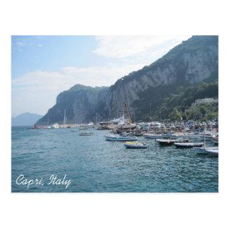 Puerto deportivo grande, Capri, Italia Postal