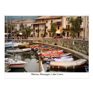 Puerto deportivo, Menaggio, lago Como 2 Postal