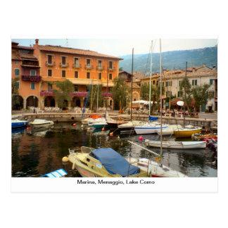 Puerto deportivo, Menaggio, lago Como Postal